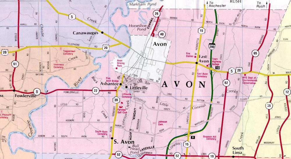 Village Of Avon New York Village Services Maps